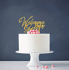 baby cake topper welcome baby girl cake topper gold oh baby cake