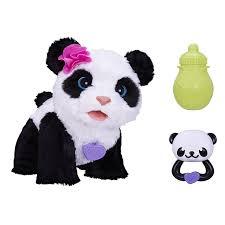 amazon com furreal friends pom pom my baby panda pet toys u0026 games