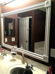 bathroom mirror frame ideas wooden mirrors to decorate best mirror ideas on wood framed mirror