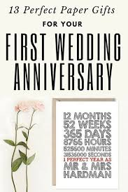 1st year anniversary ideas 13 paper gifts for your wedding anniversary wedding