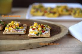 easy vegetarian canapes corn canapes whats cooking