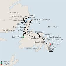 St John Map Labrador U0026 Newfoundland Tour Globus