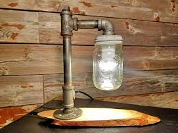 diy mason jar light with iron pipe this is a handmade steunk industrial l with mason jar made