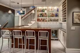 Wet Bar Countertop Ideas Bar Beautiful Basement Wet Bar Design Using Grey Marble