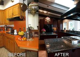kitchen remodel ideas before and after renovating cabinets and countertops can a difference it