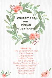 Virtual Baby Shower Invitations Hand Lettered Wishes For Baby Card Mirabelle Creations