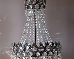Lead Crystal Chandelier French Empire Lights Etsy