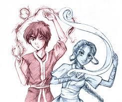 zuko and katara bend twined by amako chan on deviantart