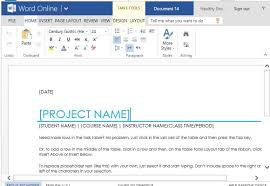 project task list template for word online