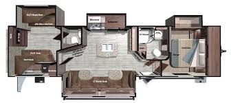 Bunkhouse Trailer Floor Plans 2017 Mesa Ridge Travel Trailers By Highland Ridge Rv