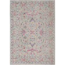 Pink Floral Rugs Stockholm Pink Cotton Cream Vintage Rug
