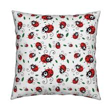 cute ladybug pattern wallpaper by inspirationz roostery home decor