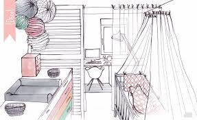partage de bureau minigougue déco partage des espaces bureau chambre bébé