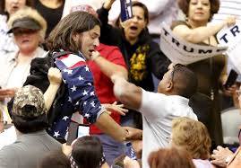 Black Flag Members Protester Punched Kicked At Donald Trump Rally In Arizona Nbc News