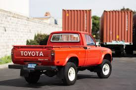 vintage toyota classic toyota pickup heading for adventures overseas