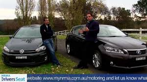 lexus is or bmw 3 lexus ct200h vs vw golf gtd nrma car comparison youtube
