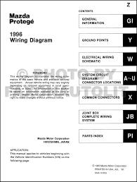 1996 mazda protege wiring diagram manual original