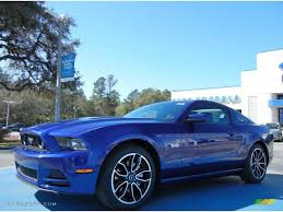 Ford Mustang 2014 Black 2014 Deep Impact Blue Ford Mustang Gt Premium Coupe 77398727