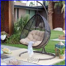 hanging egg chair outdoor loveseat cushion stand 2 seat hammock