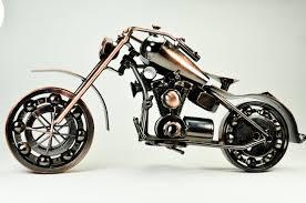 Harley Davidson Home Decor by Collectible Art Sculpture Die Cast Harley Davidson Scrap Metal