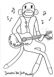 sock monkey coloring page 29918 bestofcoloring com