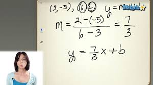 finding the equation of a line in slope intercept form youtube