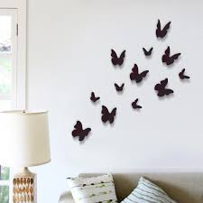 wall stickers next day delivery wall stickers from worldstores walplus 12 piece 3d black butterfly wall sticker collection