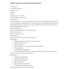 cv sample of assistant accountant choice image certificate