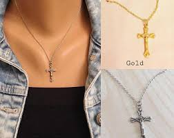 wear cross necklace images Jesus cross necklace etsy jpg
