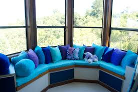 window nook seat cushions set in blue color of beautiful cushions window nook seat cushions set in blue color beautiful cushions for window seats bedroom