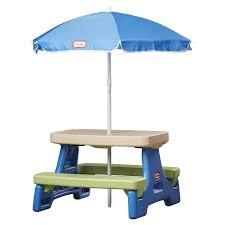 little tikes easy store jr picnic table little tikes easy store jr table with umbrella reviews wayfair