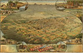 Birds Eye View Map Dyer U0027s Birdseye View Of Phoenix 1885