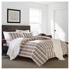 Eddie Bauer Bedroom Furniture by Paprika Orange Point Permit Plaid Comforter Set Eddie Bauer