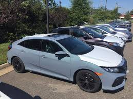 2017 civic ex hatchback in new sonic gray pearl first dealership