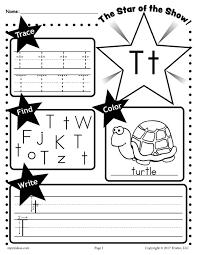 free preschool letter t worksheets u0026 printables