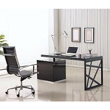 Computer Desk In Black Modern Desks Krauss Desk W File Eurway Furniture
