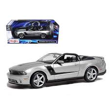 2010 mustang models 2010 ford mustang convertible 427r roush edition silver 1 18