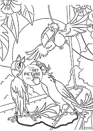 blu fall in love coloring pages for kids printable free rio