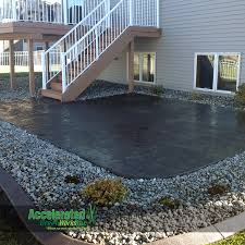 Paving Slab Calculator Design by Stamped Concrete Patio Right Off Of Your Deck Offers Another Space