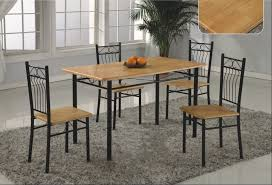 dining table with metal chairs iron dining room chairs modena solid wood u0026 metal dining table