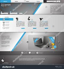 Grey Theme Royalty Free Website Template Blue And Grey Theme 135608945 Stock