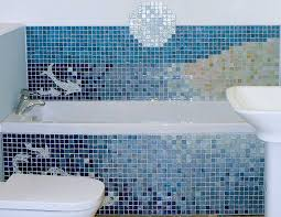 stunning pictures of glass mosaic tile for bathroom walls