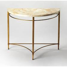 butler 6185025 marlena cabebe shell demilune console table in gold