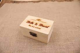 Personalized Wooden Boxes Aliexpress Com Buy Customized Name Wedding Ring Box Engagement