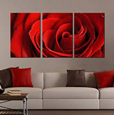 Amazoncom Generic Modern Landscape Red Rose Canvas Print Wall - Wall paintings for home decoration