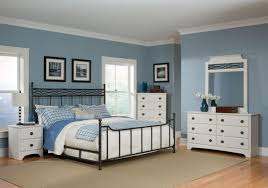great bedroom design with metal bed frame combined wrought iron