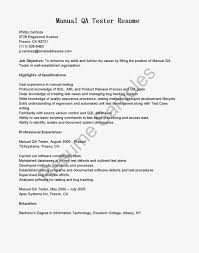 qtp manual testing resume enchanting qa sample resume with