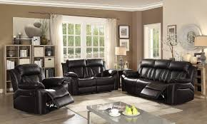 Black Leather Reclining Sofa And Loveseat Black Leather Reclining Sofa Loveseat By For The Home Store