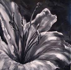 monochromatic lily floral painting black white i white magic monochromatic lily floral painting black white i white magic by canadian artist