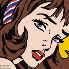 roy lichtenstein vector with hair ribbon v br by thejcgerm on deviantart